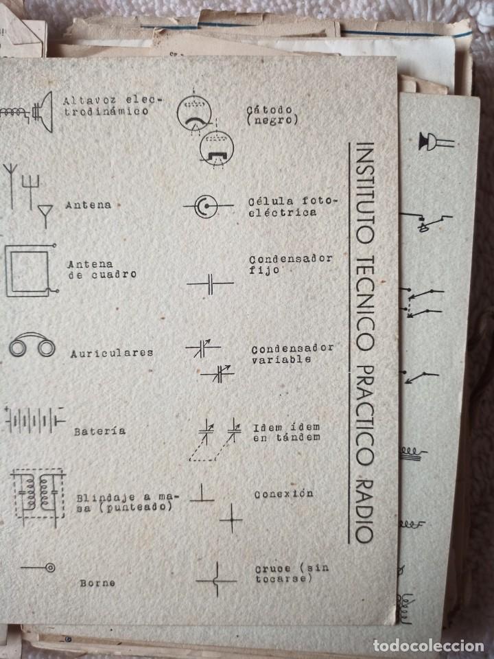Radios antiguas: Instituto tecnico-practico Barcelona, esquemas antigua radioelectricos - Foto 7 - 257622970