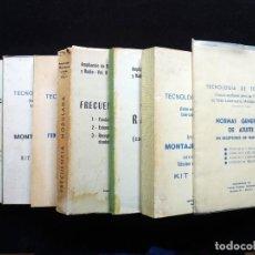 Radios Anciennes: LOTE 7 PUBLICACIONES DEL CENTRO DE ESTUDIOS TELEVISIÓN. MADRID, 1968-74. RADIO, RADIOTECNIA, TELEVIS. Lote 258231800