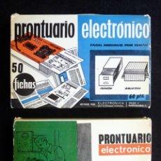 Rádios antigos: PRONTUARIO ELECTRÓNICO. 100 FICHAS EN 2 PAQUETES. DEL Nº 401 AL 500. ED. ELECTRÓNICA INTERNACIONAL.. Lote 258232780
