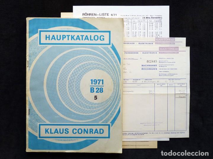 CATÁLOGO DE COMPONENTES ELECTRÓNICOS TV Y RADIO KLAUS CONRAD, 1971. EN ALEMÁN (Radios, Gramófonos, Grabadoras y Otros - Catálogos, Publicidad y Libros de Radio)