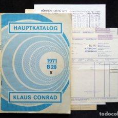 Radios antiguas: CATÁLOGO DE COMPONENTES ELECTRÓNICOS TV Y RADIO KLAUS CONRAD, 1971. EN ALEMÁN. Lote 259850985