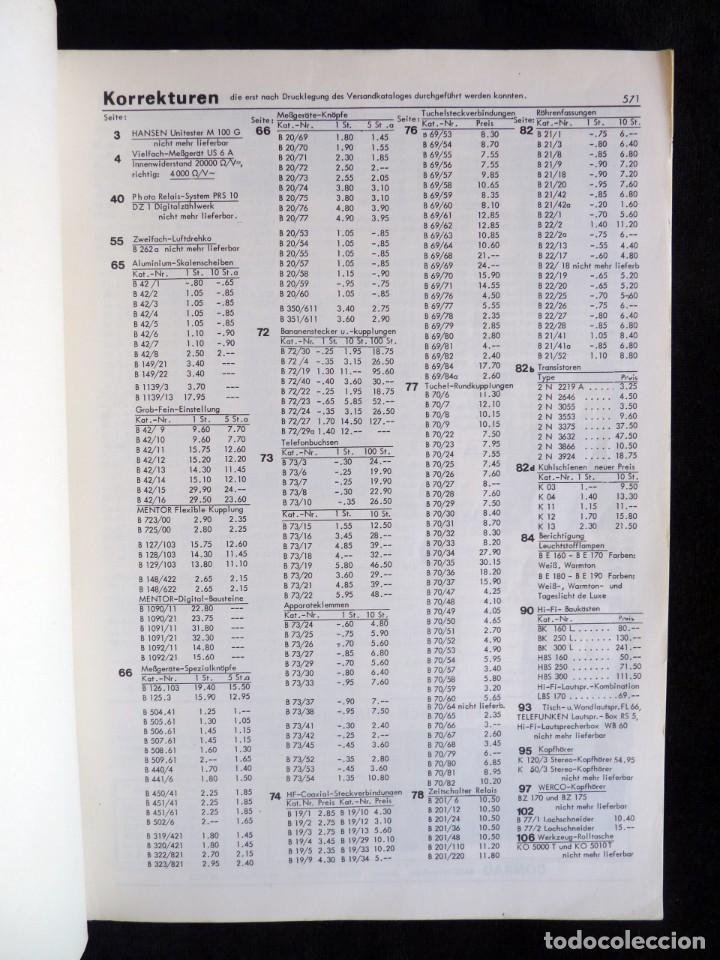 Radios antiguas: CATÁLOGO DE COMPONENTES ELECTRÓNICOS TV Y RADIO KLAUS CONRAD, 1971. EN ALEMÁN - Foto 3 - 259850985