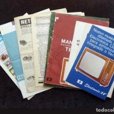 Radios antiguas: LOTE DE FOLLETOS DE INSTRUMENTAL DE ANALISIS TV Y RADIO. AÑOS 1960-70. PUBLICIDAD CLARIVOX TELEVISIÓ. Lote 259851235
