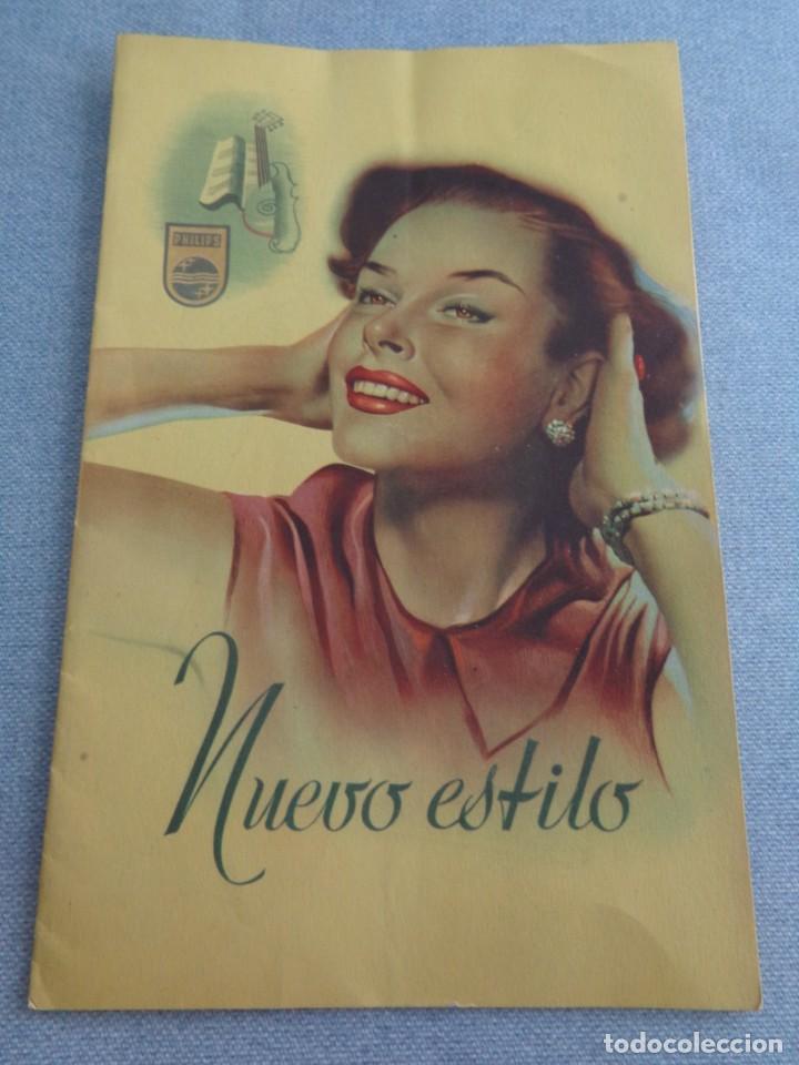 BONITO CATALOGO DESPLEGABLE CUADRUPLE DE RADIO PHILLIPS ILUSTRADO A COLOR - 1951 (Radios, Gramófonos, Grabadoras y Otros - Catálogos, Publicidad y Libros de Radio)