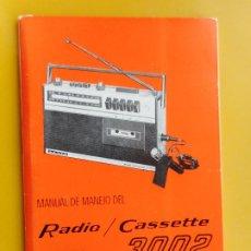 Radios antiguas: ANTIGUO MANUAL MANEJO.RADIO CASSETTE LAVIS 3002. 1974. Lote 264343552