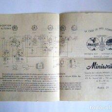 "Radios Anciennes: CIRCUITO RADIO PHILIPS ""MINIWATT"" MOD. 211 BRUNET RADIO BARCELONA.. Lote 265169389"
