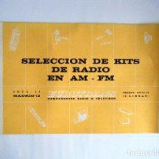Rádios antigos: SELECCIÓN DE KITS DE RADIO EN AM - FM. EUROTRANS 1969.. Lote 266767568