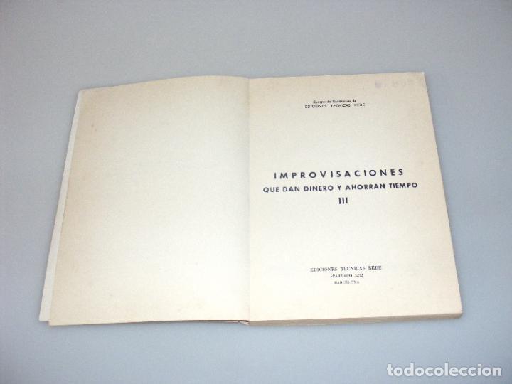 Radios antiguas: IMPROVISACONES QUE DAN DINERO Y AHORRAN TIEMPO (1966) - PRÁCTICA ELECTRÓNICA 3 - REDE. - Foto 4 - 268586904