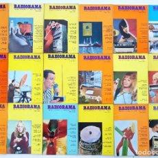 Radios antiguas: 18 REVISTAS RADIORAMA - Nº 8-9-11-17-41-42-45-48-50-53-54-55-56-57-58-62-63-64 - AÑOS 1969/73. Lote 269099268