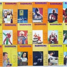 Radios antiguas: 18 REVISTAS RADIORAMA - Nº 8-9-11-17-23-24-42-45-48-50-53-54-55-56-57-62-63-64 - AÑOS 1969/73. Lote 269100413