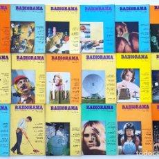 Radios antiguas: 18 REVISTAS RADIORAMA - Nº 4-5-12-19-25-26-27-28-29-31-32-43-44-46-47-57-58-65 - AÑOS 1968/73. Lote 269103913