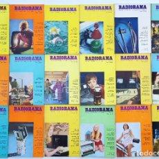 Radios antiguas: 18 REVISTAS RADIORAMA - Nº 7-11-15-19-20-21-31-34-36-40-41-43.47-49-51--52-59-61- AÑOS 1968/73. Lote 269105243