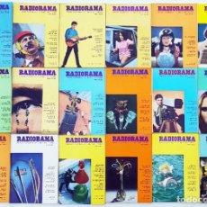 Radios antiguas: 18 REVISTAS RADIORAMA - Nº 5-6-7-12-19-22-27-32-33-37-44-46-47-49-57-59-61-65 - AÑOS 1968/73. Lote 269106233