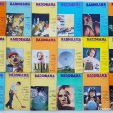 Radios antiguas: 18 REVISTAS RADIORAMA - Nº 4-5-12-19-25-26-27-28-29-31-32-43-44-46-47-57-58-65 - AÑOS 1968/73. Lote 269107058