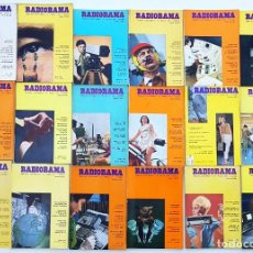 Radios antiguas: 18 REVISTAS RADIORAMA - Nº 1-6-7-12-16-25-29-30-36-37-38-39-40-43-48-52-57-60 - AÑOS 1967/72. Lote 269109878