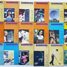 Radios antiguas: 18 REVISTAS RADIORAMA - Nº 4-5-17-18-21-23-24-25-26-28-30-33-38-44-58-60-61-65 - AÑOS 1968/73. Lote 269111118