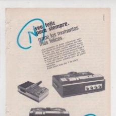 Radios antiguas: PÙBLICIDAD T 1969. ANUNCIO MAGNETOFONOS RADIOLA. Lote 270093768
