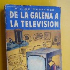 Radios antiguas: DARKNESS.DE LA GALENA A LA TELEVISION.RADIO.BRUGUERA 1956. Lote 270398683