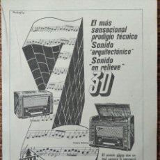 Radios antiguas: RADIO TELEFUNKEN - ANUNCIO P'UBLICITARIO 1955. Lote 270455683