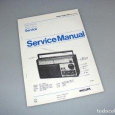 Rádios antigos: PHILIPS - MANUAL DE SERVICIO CON ESQUEMA - RADIO 90AL780.. Lote 276419128