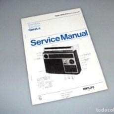 Rádios antigos: PHILIPS - MANUAL DE SERVICIO CON ESQUEMA - RADIO 90 AL 970.. Lote 276419628