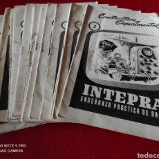 Radio antiche: CONSTRUCTIVA EXPERIMENTAR (14) CUADERNOS COMPLETOS) INTEPRA, ENSEÑANZA PRÁCTICA DE RADIO-VARIOS. Lote 276743778