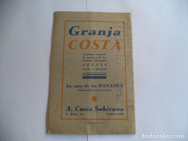 Radios antiguas: Programa Festa Major de Manresa.Any 1935.Antiga Unió Ocellera - Foto 3 - 277013633