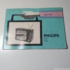 Rádios antigos: LIBRO DE INSTRUCCIONES DEL TELEVISOR PORTÁTIL, E 12 T 700, PHILIPS.. Lote 292396738