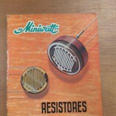 Radios antiguas: RESISTORES LDR. MINIWATT. 1966. ELECTRÓNICA. Lote 277687883