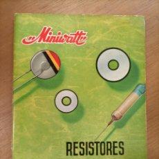 Radios antiguas: RESISTORES VDR. MINIWATT. 1966. ELECTRÓNICA. Lote 277689343
