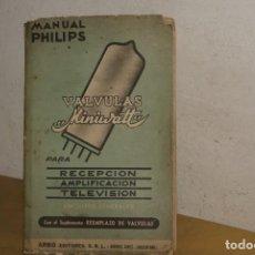 Radios antiguas: MANUAL VÁLVULAS MINI WATT PHILIPS (1957). Lote 278210498