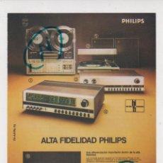 Rádios antigos: PUBLICIDAD 1975. ANUNCIO ALTA FIDELIDAD PHILIPS. Lote 280695048