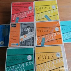 Radio antiche: LOTE 7 CINTAS MAGNETOFONICAS 3 3/4 LA MAYORIA PRRECINTADAS. VER FOTOS. GOYA, EL GRECO. Lote 287689993