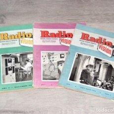 Radios antiguas: RADIO VISIÓN - REVISTA MENSUAL DE RADIO/TV - 3 NÚMEROS - 1952 Y 1953 - VER DESCRIPCIÓN Y FOTOS.. Lote 288454558