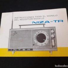 Radios antiguas: LIBRO DE INSTRUCCIONES DEL RADIO TRANSISTOR INTER AÑOS 60. Lote 289285753