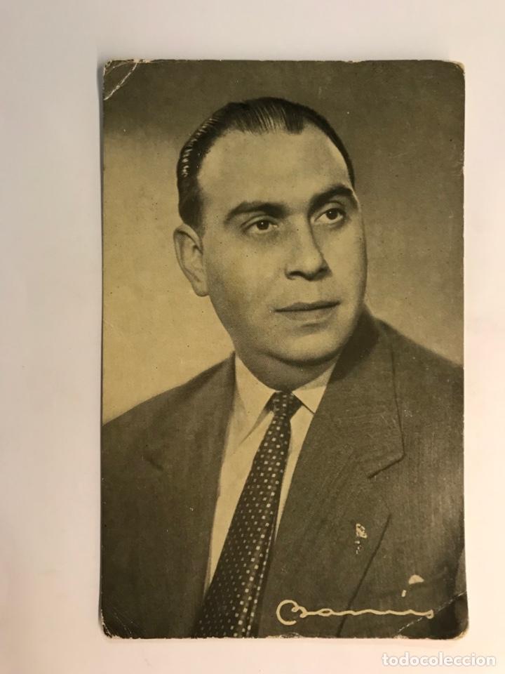 FOTOGRAFÍA JUAN IBAÑEZ, LOCUTOR DE RADIO BARCELONA. AUTÓGRAFO ORIGINAL CON DEDICATORIA (H.1950?) (Radios, Gramófonos, Grabadoras y Otros - Catálogos, Publicidad y Libros de Radio)