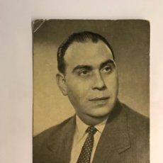 Radios antiguas: FOTOGRAFÍA JUAN IBAÑEZ, LOCUTOR DE RADIO BARCELONA. AUTÓGRAFO ORIGINAL CON DEDICATORIA (H.1950?). Lote 289743618