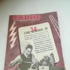 Radios antiguas: RADIO ENCICLOPEDIA Nº 34. ESTACIONES EMISORAS. EDITORIAL BRUGUERA. SUBIDO ÍNDICE. 1º ED 1946. VER. Lote 293698388