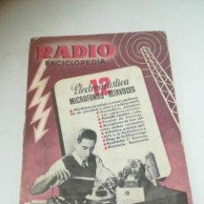 Radios antiguas: RADIO ENCICLOPEDIA Nº 12. ESTACIONES EMISORAS. EDITORIAL BRUGUERA. SUBIDO ÍNDICE. 1º ED 1945. VER. Lote 293698748