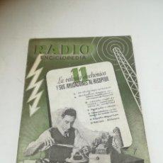 Radios antiguas: RADIO ENCICLOPEDIA Nº 11. ESTACIONES EMISORAS. EDITORIAL BRUGUERA. SUBIDO ÍNDICE. 1º ED 1944. VER. Lote 293698813