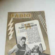 Radios antiguas: RADIO ENCICLOPEDIA Nº 14. ESTACIONES EMISORAS. EDITORIAL BRUGUERA. SUBIDO ÍNDICE. 1º ED 1945. VER. Lote 293699118