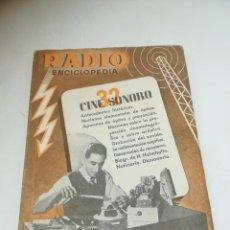 Radios antiguas: RADIO ENCICLOPEDIA Nº 32. ESTACIONES EMISORAS. EDITORIAL BRUGUERA. SUBIDO ÍNDICE. 1º ED 1946. VER. Lote 293699288