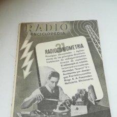 Radios antiguas: RADIO ENCICLOPEDIA Nº 31. ESTACIONES EMISORAS. EDITORIAL BRUGUERA. SUBIDO ÍNDICE. 1º ED 1946. VER. Lote 293699383