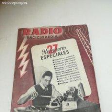 Radios antiguas: RADIO ENCICLOPEDIA Nº 27. ESTACIONES EMISORAS. EDITORIAL BRUGUERA. SUBIDO ÍNDICE. 1º ED 1946. VER. Lote 293699448