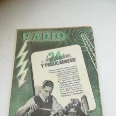 Radios antiguas: RADIO ENCICLOPEDIA Nº 24. ESTACIONES EMISORAS. EDITORIAL BRUGUERA. SUBIDO ÍNDICE. 1º ED 1946. VER. Lote 293699753