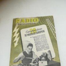 Radios antiguas: RADIO ENCICLOPEDIA Nº 28. ESTACIONES EMISORAS. EDITORIAL BRUGUERA. SUBIDO ÍNDICE. 1º ED 1946. VER. Lote 293699893