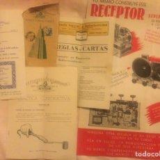 Radios antiguas: DOCUMENTACION ESCUELA SUPERIOR DE RADIO TELEVISION CURSO TENICO PRACTICO POR CORRESPONDENCIA. Lote 293720273