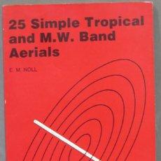 Radios antiguas: 25 SIMPLE TROPICAL AND M V BAND AERIALS. NOLL. Lote 295956538
