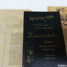 Radios antiguas: MANUAL DE INSTRUCCIONES DE ZENIT TRANSOCEANIC PORTABLE.U. S. A.CON ESQUEMA ORIGINAL E INSTRUCCIONES.. Lote 296955933