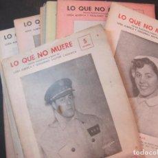 Radios antiguas: LO QUE NO MUERE-NOVELA RADIOFONICA-COMPLETA-10 EPISODIOS-VER FOTOS-(K-4563). Lote 297096308